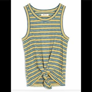 NWT Madewell Stripe Knot Front Tank Top